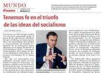 «Мы верим в победу идей социализма». Интервью Юрия Афонина кубинской газете «Гранма»