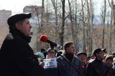 В городе Глазове Удмуртской Республики прошел митинг против строительства полигона твердых коммунальных отходов